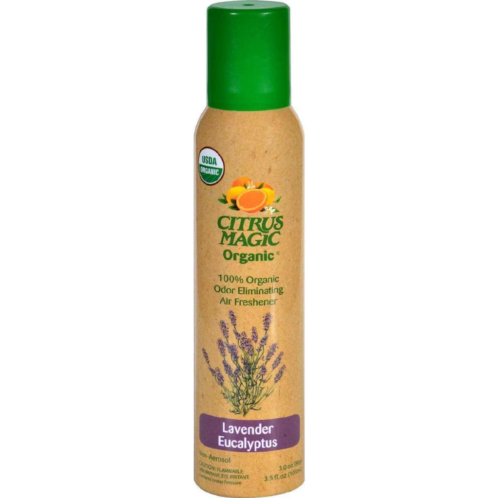 Citrus Magic Air Freshener - Odor Eliminating - Spray - Lavender Eucalyptus - 3.5 Oz