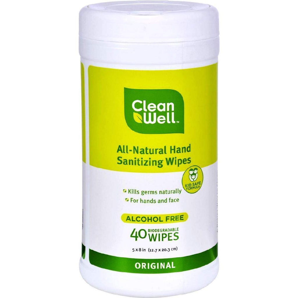 Cleanwell All-Natural Hand Sanitizing Wipes Original - 40
