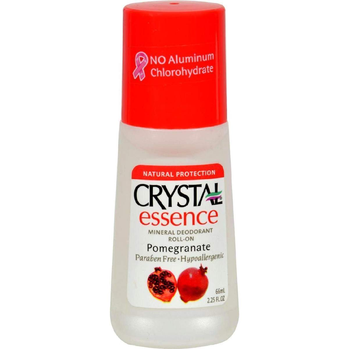 Crystal Essence Mineral Deodorant Roll-On Pomegranate - 2.25 Fl Oz
