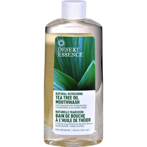 Desert Essence Tea Tree Oil Mouthwash Spearmint - 8 Fl Oz