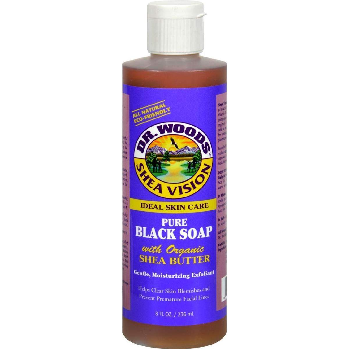 Dr. Woods Shea Vision Pure Black Soap With Organic Butter - 8 Fl Oz