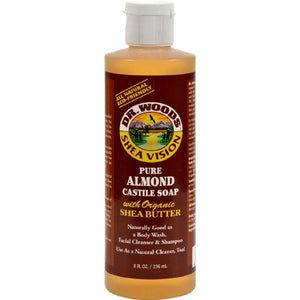 Dr. Woods Shea Vision Pure Castile Soap Almond With Organic Butter - 8 Fl Oz