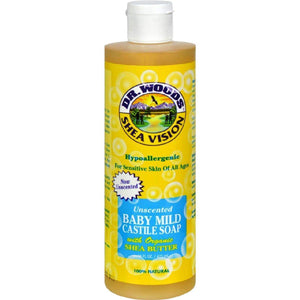 Dr. Woods Shea Vision Pure Castile Soap Baby Mild With Organic Butter - 16 Fl Oz