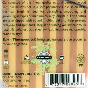 Earth Therapeutics Large Bamboo Lacquer Pin Paddle Brush - 1
