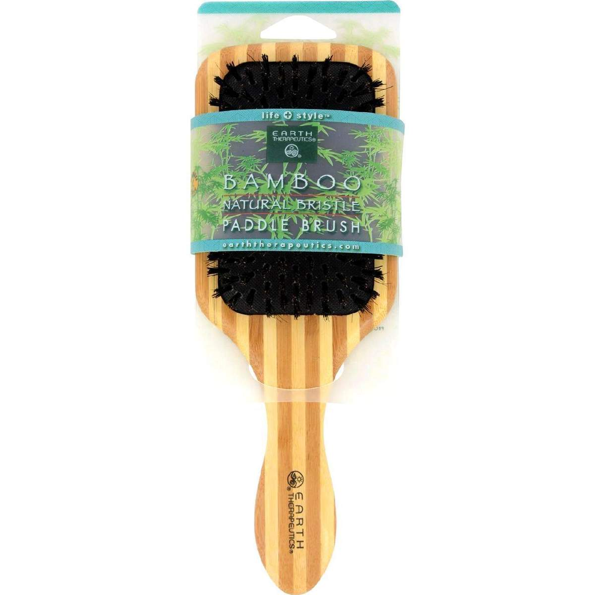 Earth Therapeutics Large Bamboo Natural Bristle Paddle Brush - 1
