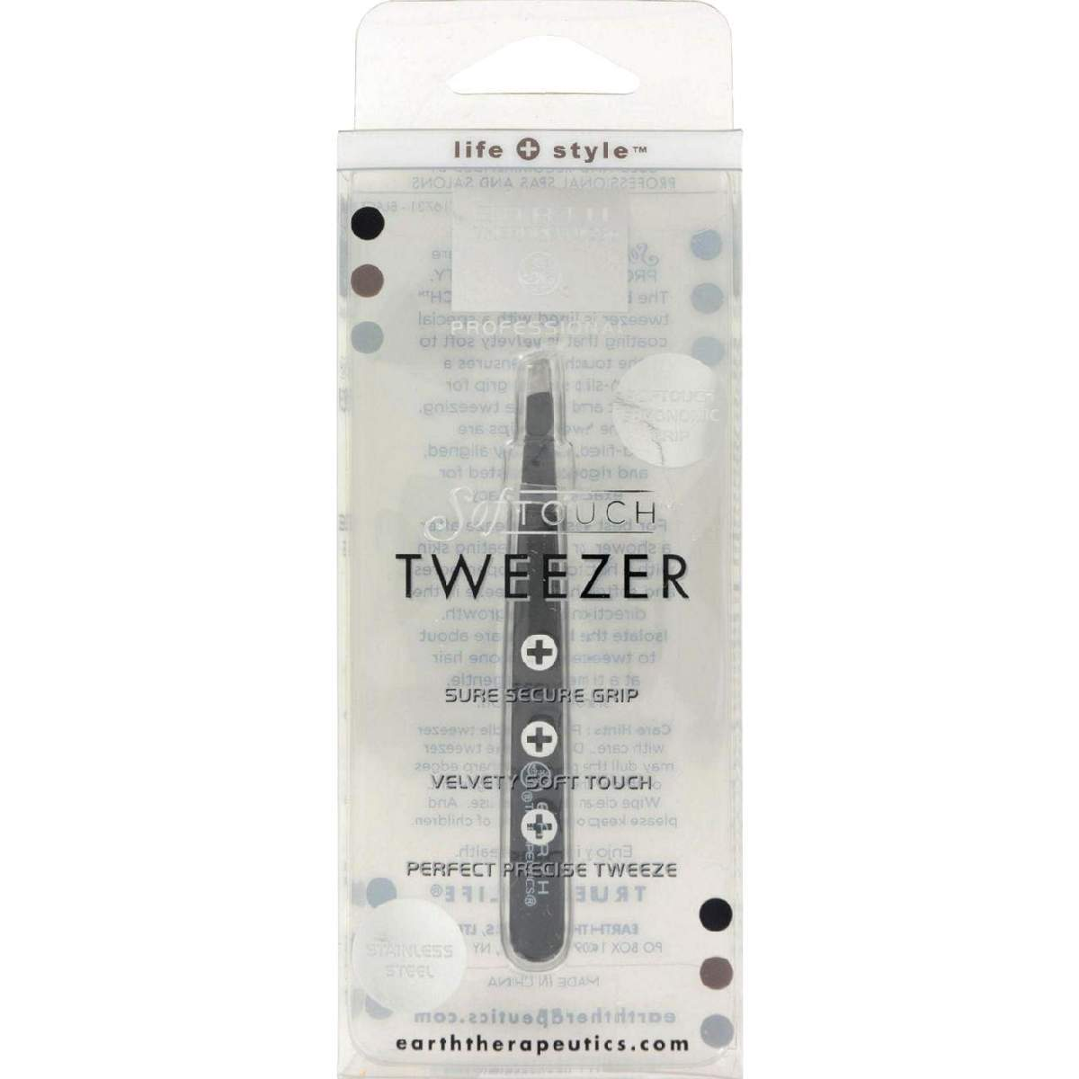 Earth Therapeutics Softouch Tweezer Black - 1 Unit