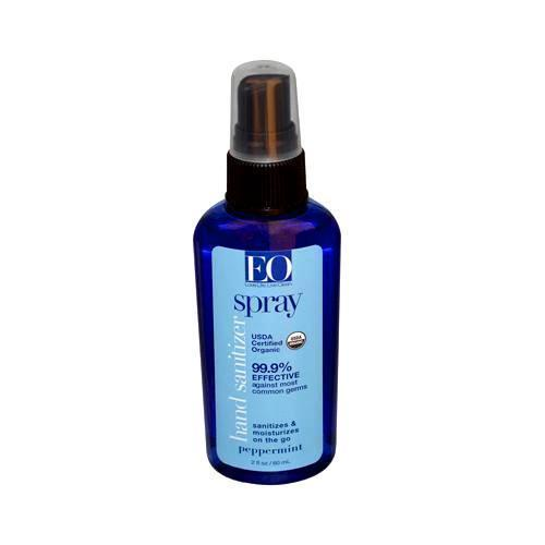 Eo Products Hand Sanitizer Spray - Peppermint - Case Of 6 - 2 Oz