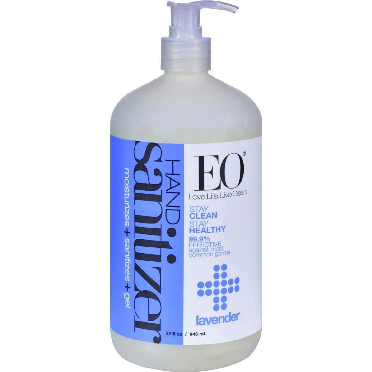 Eo Products Hand Sanitizing Gel - Lavender Essential Oil - 32 Oz