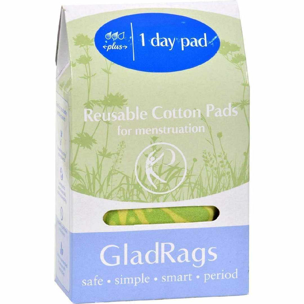 Gladrags Color Cotton Day Pad Plus - 1 Count (Reusable Sanitary Napkin)