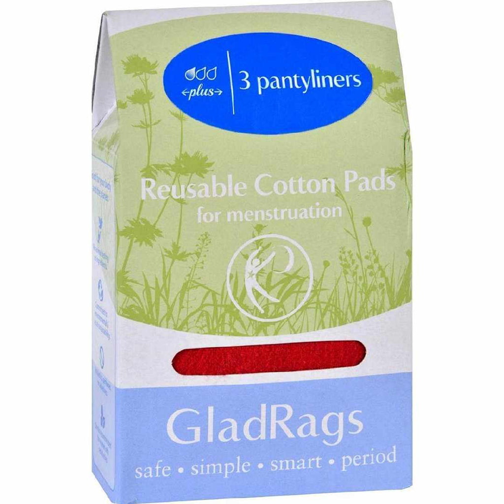 Gladrags Color Cotton Pantyliner Plus - 3 Pack (Reusable Cloth Panty Liners)
