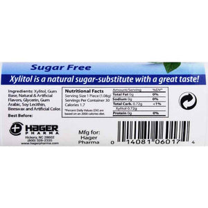 Hager Pharma Xylitol Chewing Gum - Peppermint - 30 Ct - Case Of 6