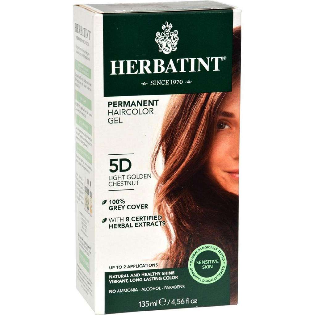 Herbatint Permanent Herbal Haircolour Gel 5D Light Golden Chestnut - 135 Ml