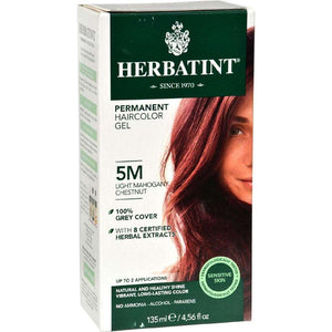 Herbatint Permanent Herbal Haircolour Gel 5M Light Mahogany Chestnut - 135 Ml