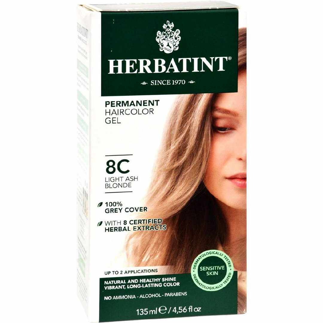 Herbatint Permanent Herbal Haircolour Gel 8C Light Ash Blonde - 135 Ml
