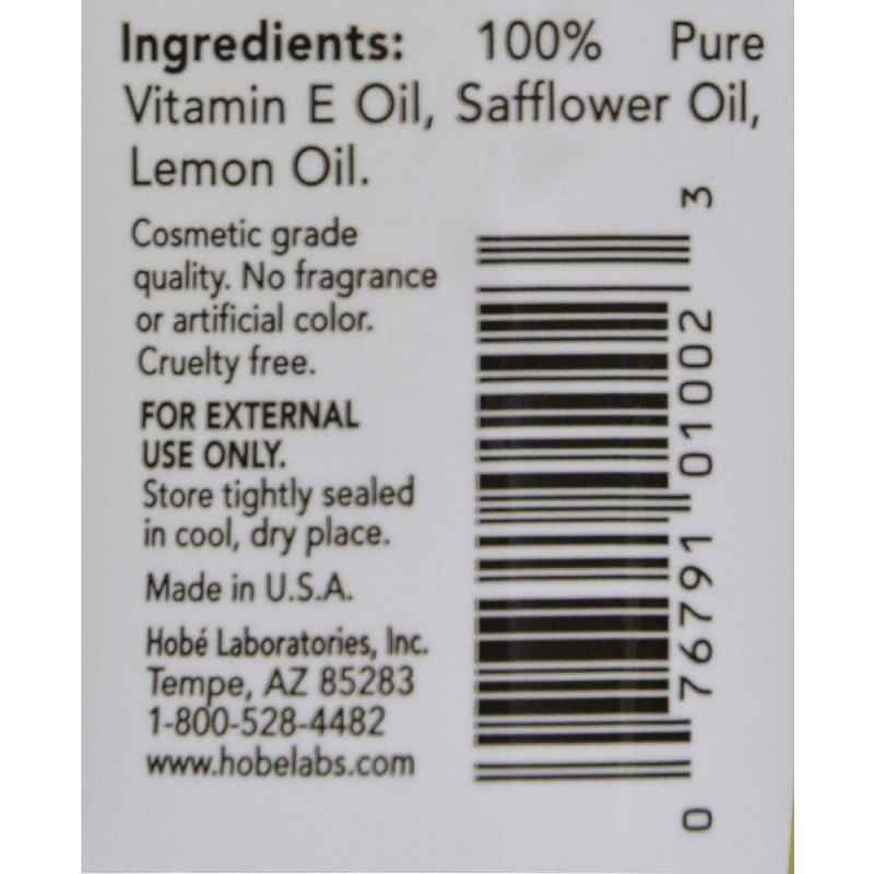 Hobe Labs Vitamin E Oil - 7500 Iu - 4 Oz