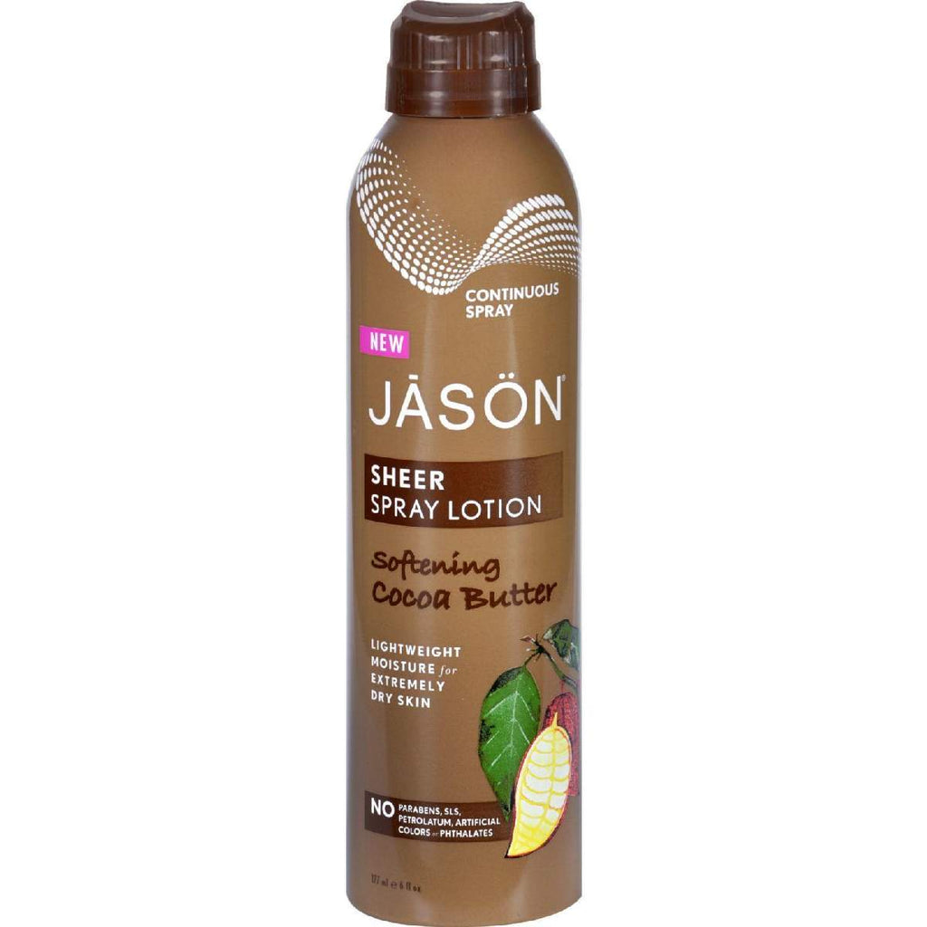 Jason Natural Products Spray Lotion - Sheer - Softening Cocoa Butter - 6 Oz