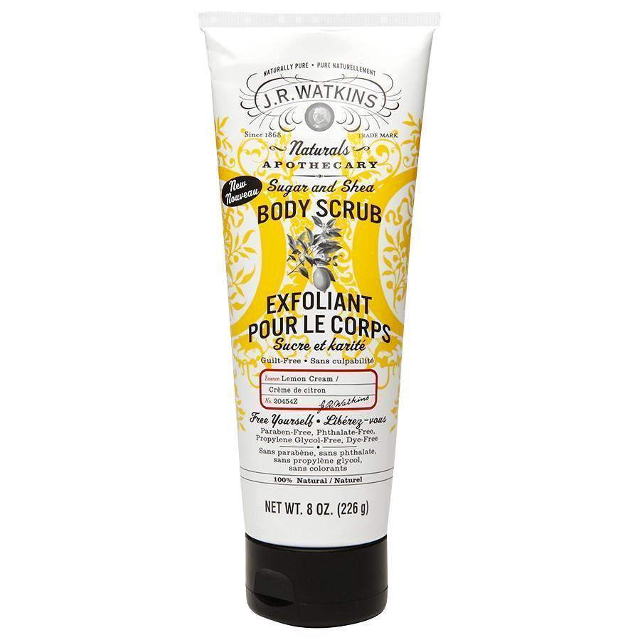 J.r. Watkins Sugar And Shea Body Scrub - Lemon - 8 Oz