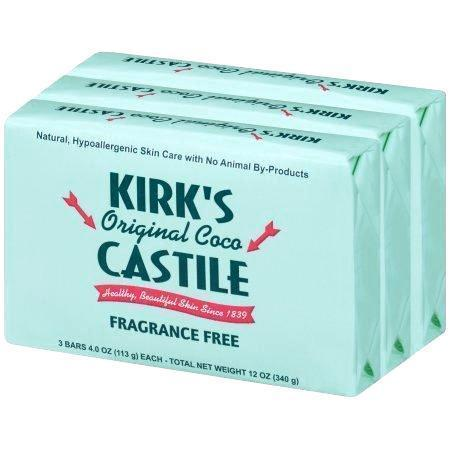 Kirks Natural Soap Bar - Coco Castile - Fragrance Free - 3 Count - 4 Oz
