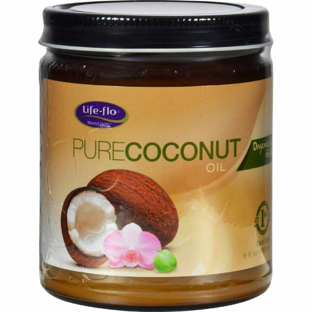 Life-Flo Health Organic Pure Coconut Oil Skin Care - 9 Fl Oz