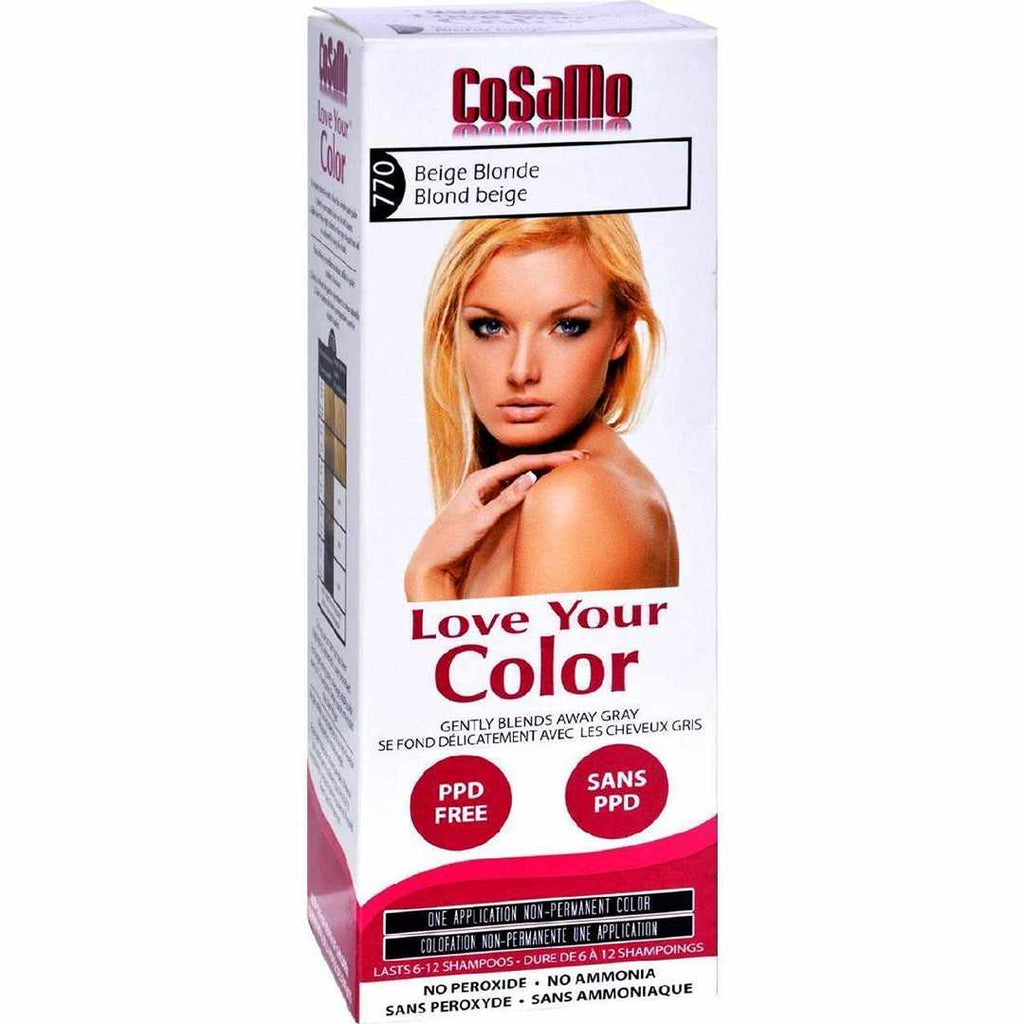 Love Your Color Hair - Cosamo - Non Permanent - Beige Blonde - 1 Ct