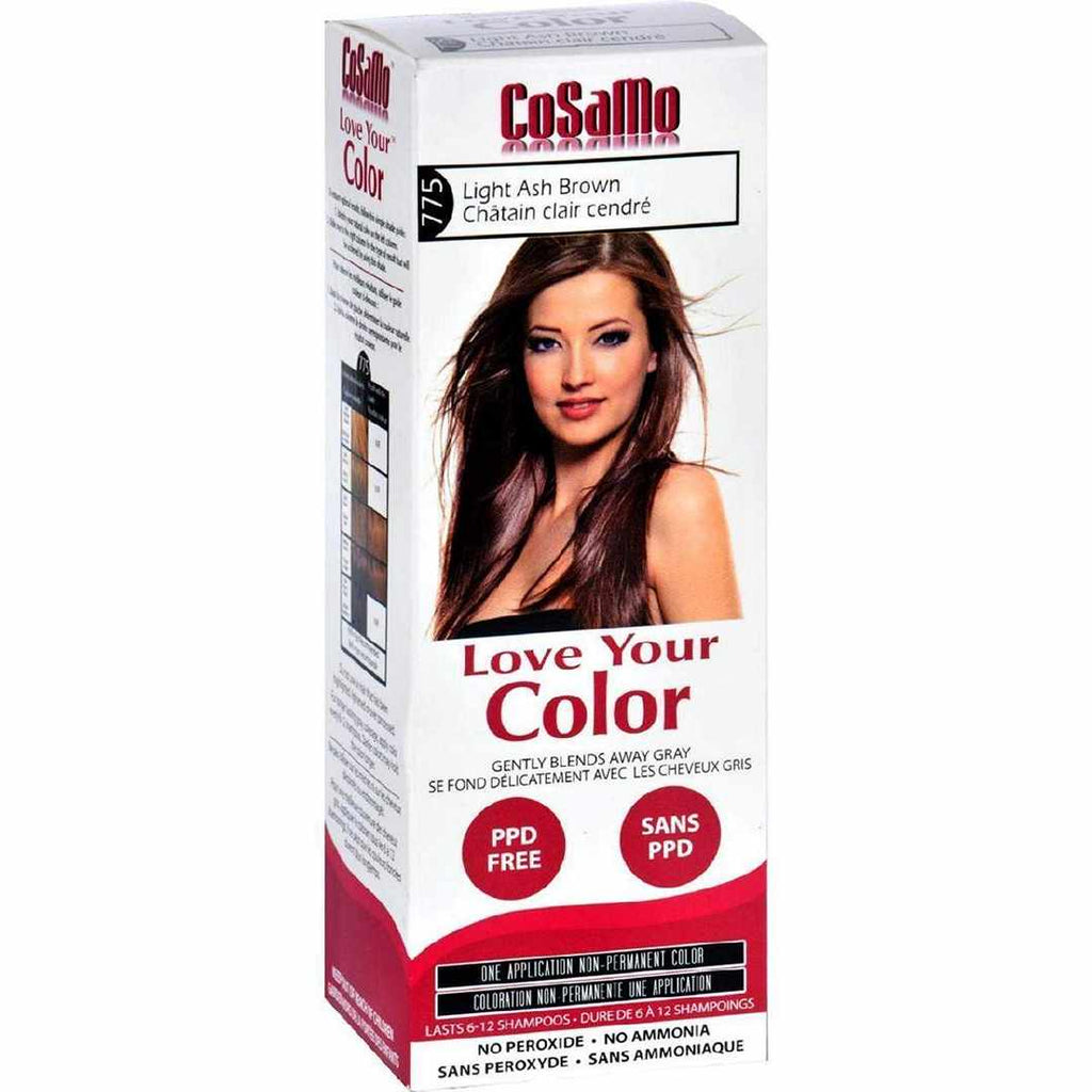 Love Your Color Hair - Cosamo - Non Permanent - Lt Ash Brown - 1 Ct