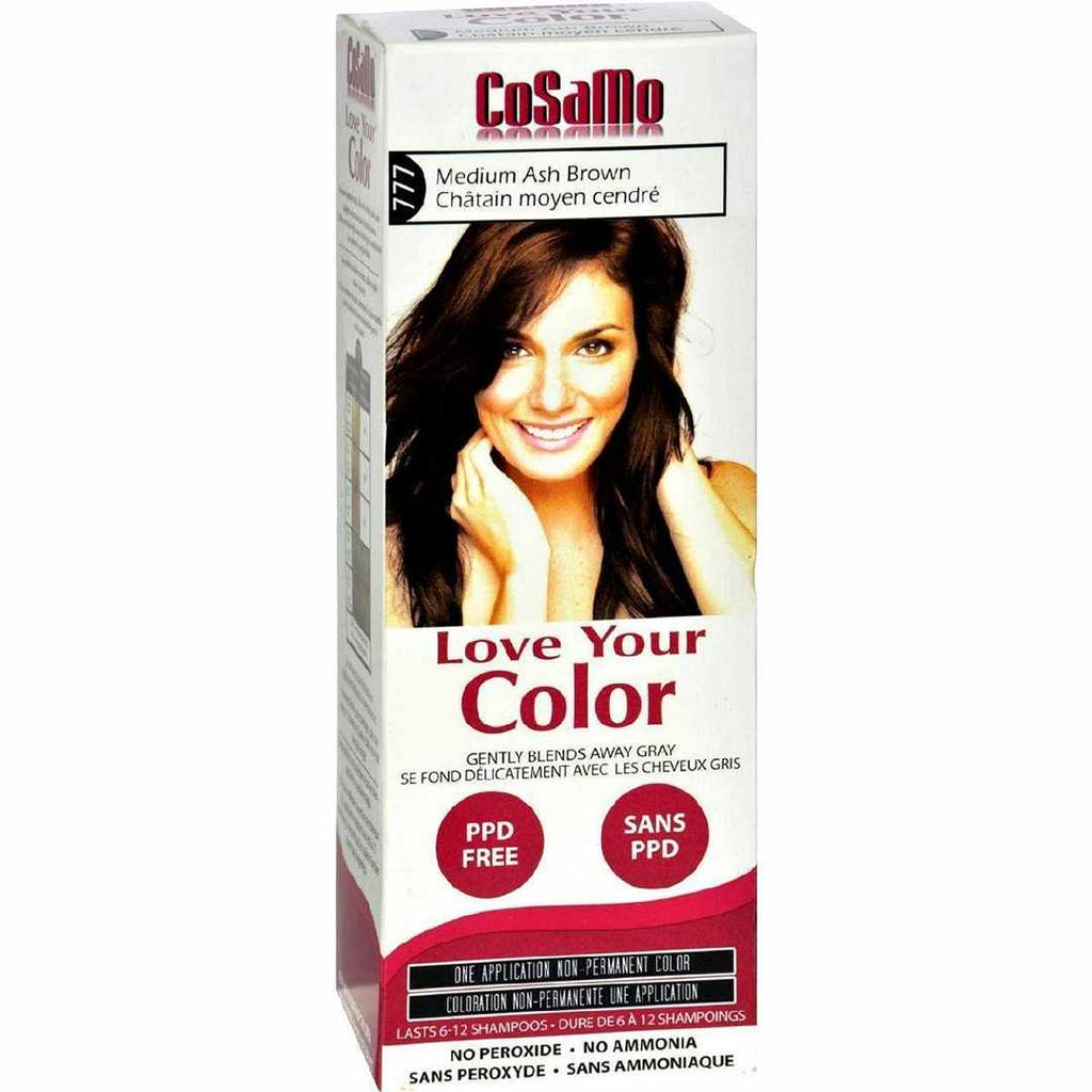 Love Your Color Hair - Cosamo - Non Permanent - Med Ash Brown - 1 Ct