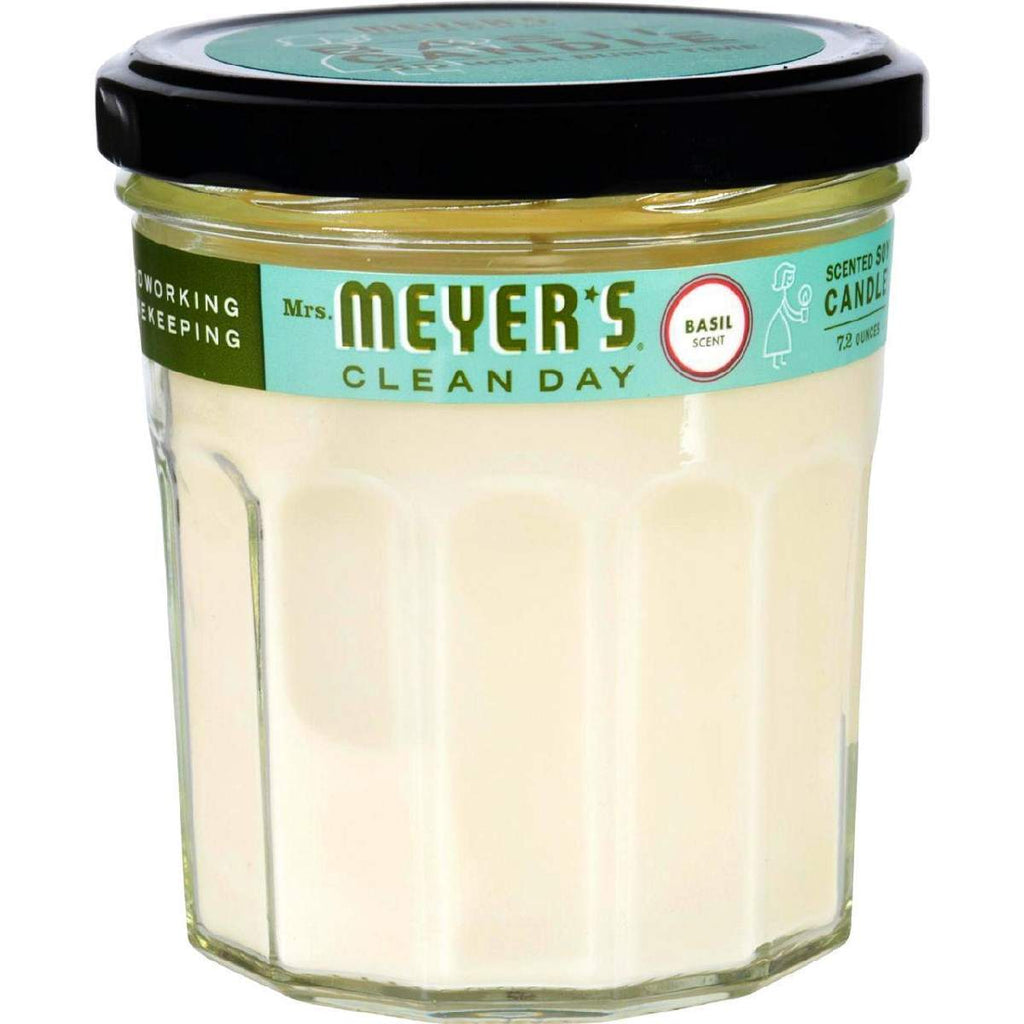 Mrs. Meyers Soy Candle - Basil - 7.2 Oz
