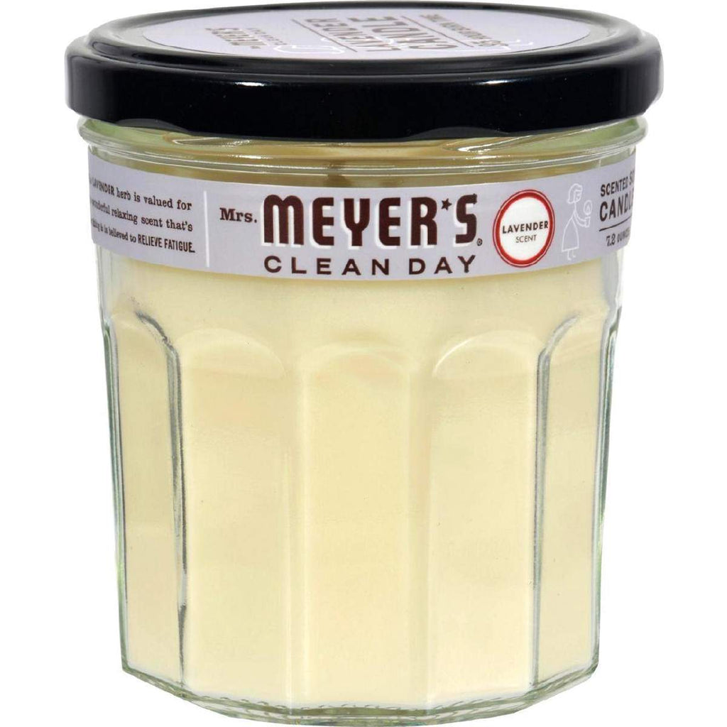 Mrs. Meyers Soy Candle - Lavender - Case Of 6 - 7.2 Oz Candles