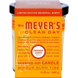 Mrs. Meyers Soy Candle - Orange Clove - Case Of 6 - 4.9 Oz Candles
