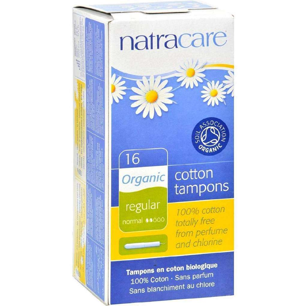 Natracare 100% Organic Cotton Tampons Regular W- Applicator - 16