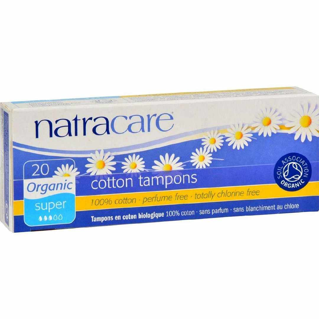 Natracare 100% Organic Cotton Tampons Super - 20