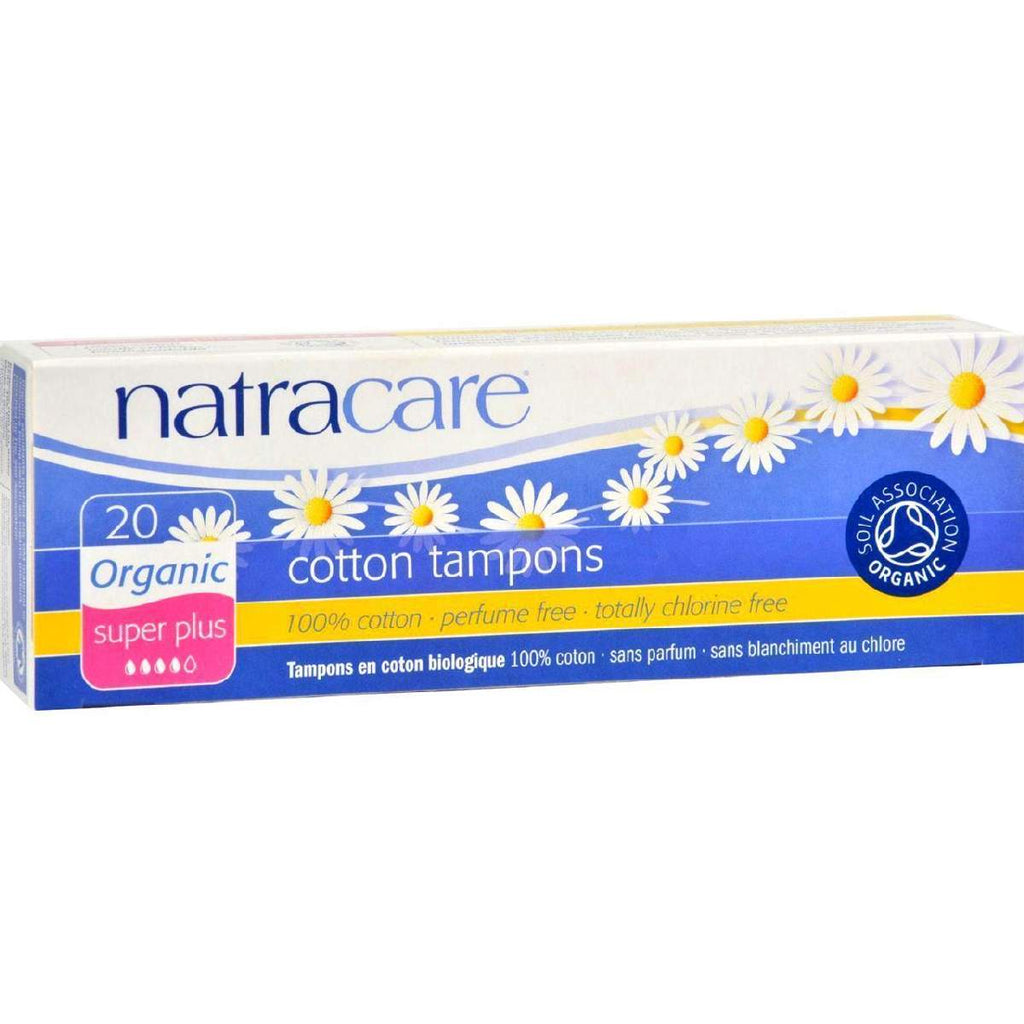 Natracare 100% Organic Cotton Tampons - Super Plus - 20 Pack