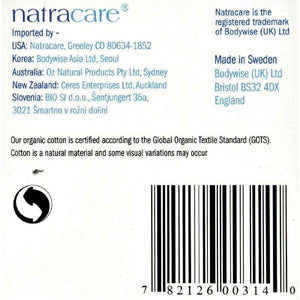 Natracare Panty Liners - Long - Wrapped - 16 Count