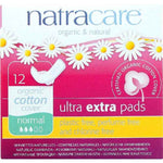 Natracare Ultra Extra Pads W-Wings - Normal - 12 Count