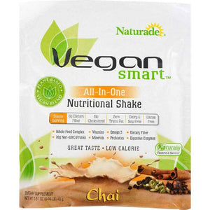 Naturade Vegansmart All-In-One Nutritional Shake - Chai - 1.51 Oz - Case Of 12