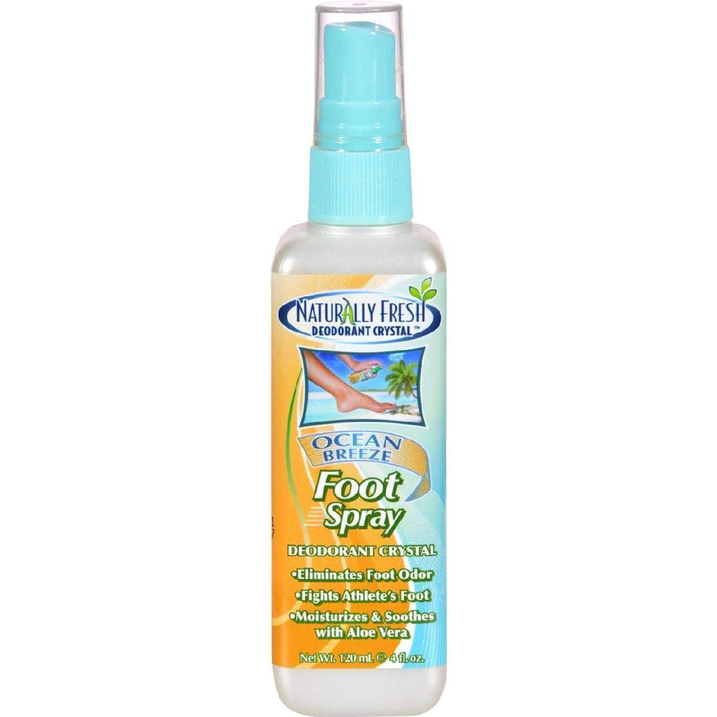 Naturally Fresh Deodorant Crystal - Foot Spray - 4 Fl Oz