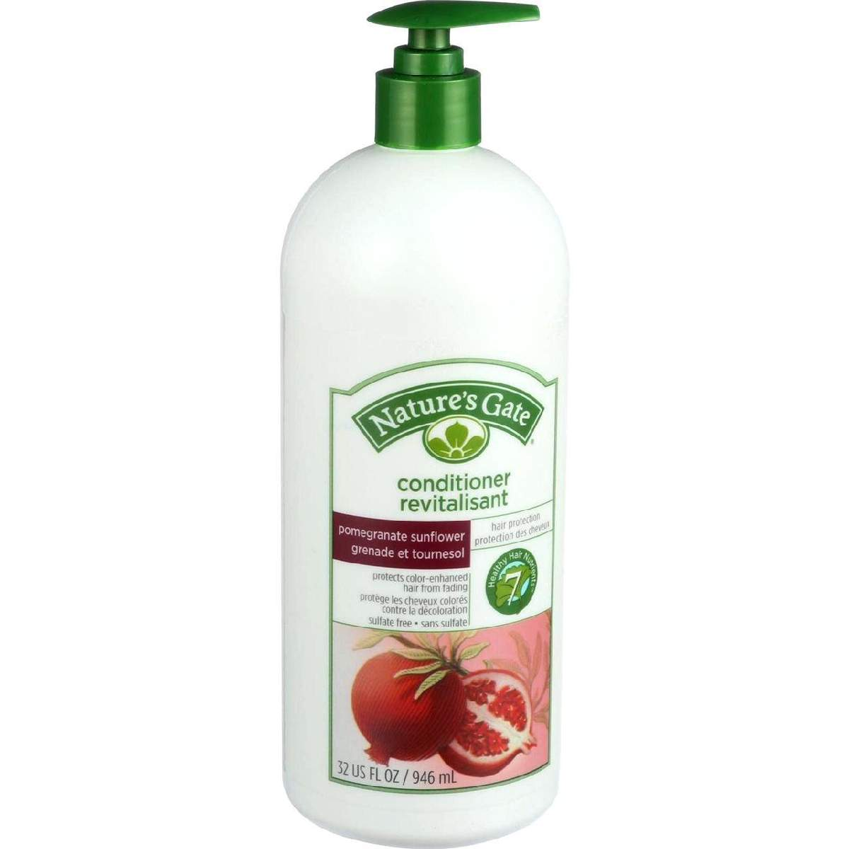 Natures Gate Conditioner - Pomegranate And Sunflower Hair Defense - 32 Oz