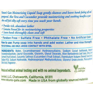 Natures Gate Moisturizing Liquid Soap - 12.5 Fl Oz