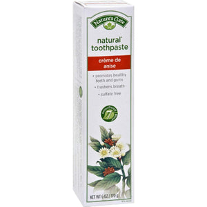 Natures Gate Natural Toothpaste Creme De Anise - 6 Oz - Case Of