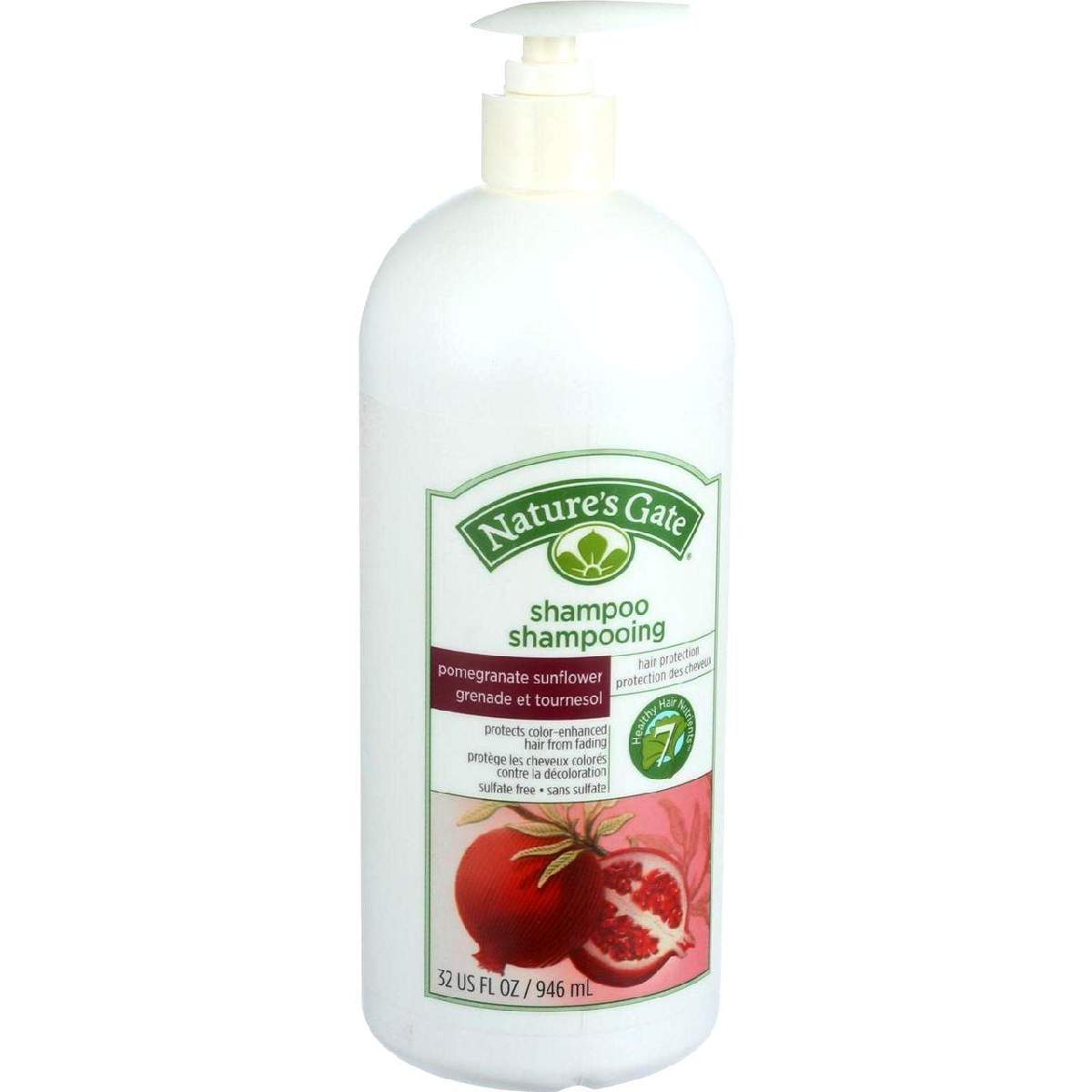 Natures Gate Shampoo - Pomegranate And Sunflower Hair Defense - 32 Oz