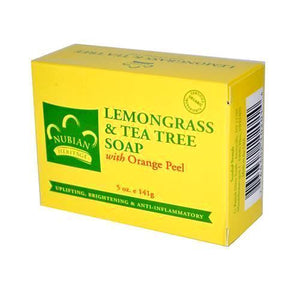 Nubian Heritage Bar Soap Lemongrass And Tea Tree With Orange-Peel - 5 Oz