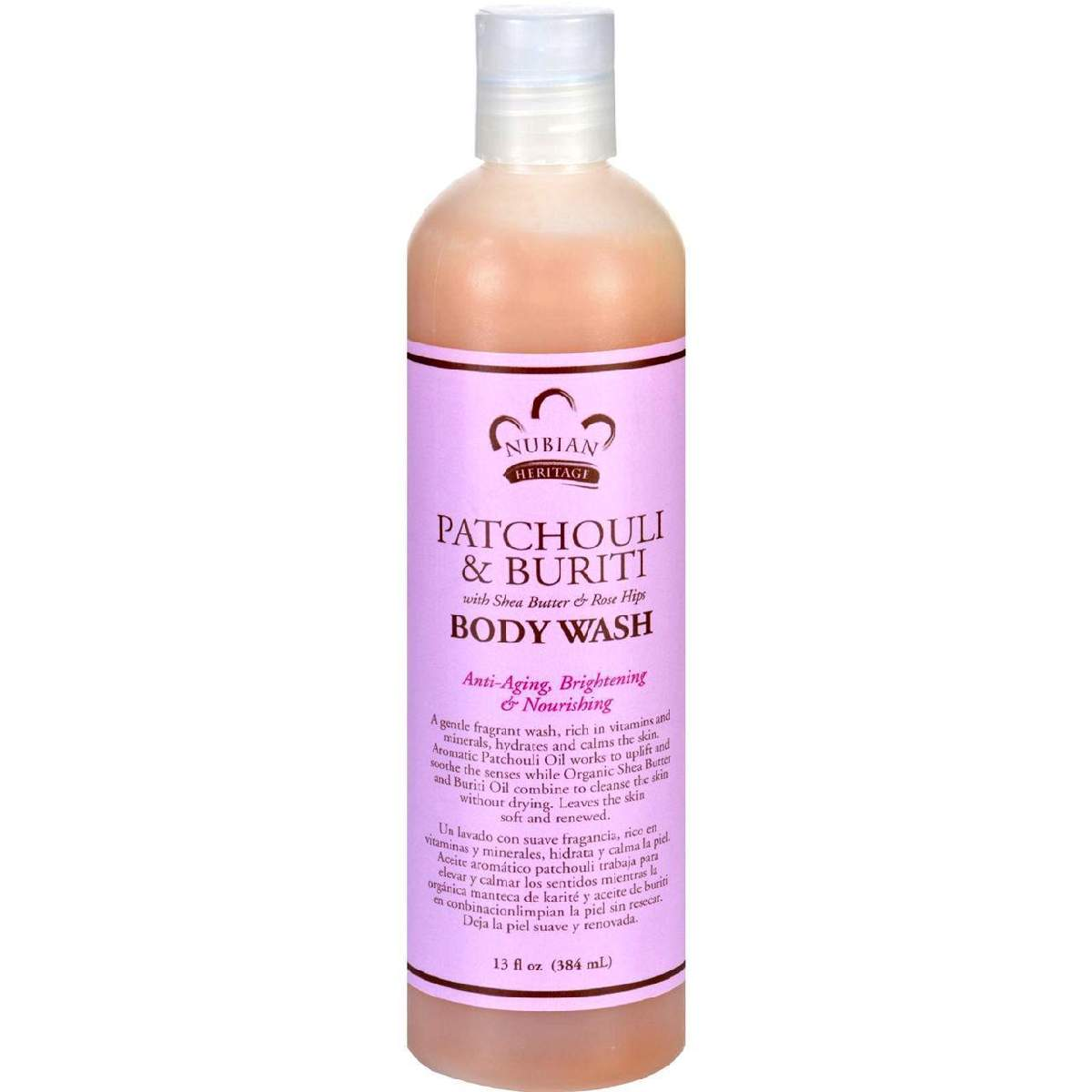 Nubian Heritage Body Wash - Patchouli And Buriti - 13 Oz