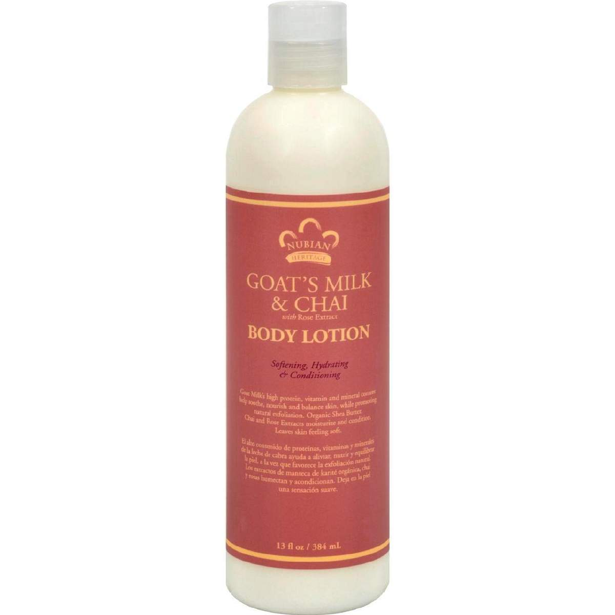 Nubian Heritage Lotion - Goats Milk And Chai - 13 Fl Oz