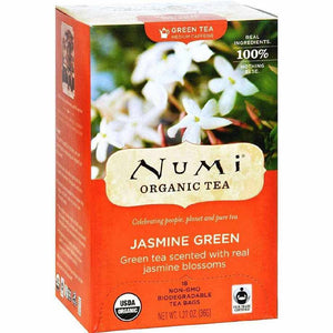 Numi Organic Tea Jasmine Green - 18 Bags - Case Of 6