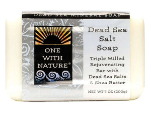One With Nature Dead Sea Mineral Salt Soap - 7 Oz