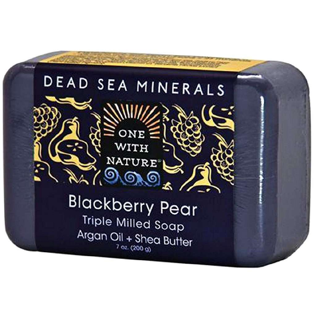 One With Nature Triple Milled Soap Bar - Blackberry Pear - 7 Oz