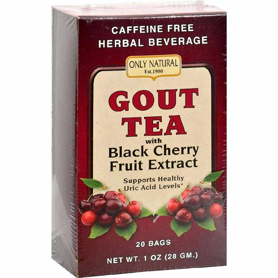 Only Natural Gout Tea - Black Cherry Fruit Extract - 20 Bags