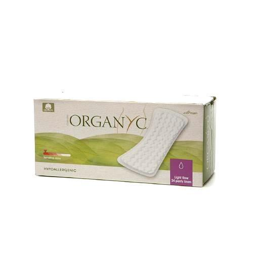 Organyc Cotton Flat Panty Liners - 24 Pack