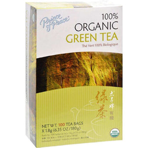 Prince Of Peace Organic Green Tea - 100 Bags