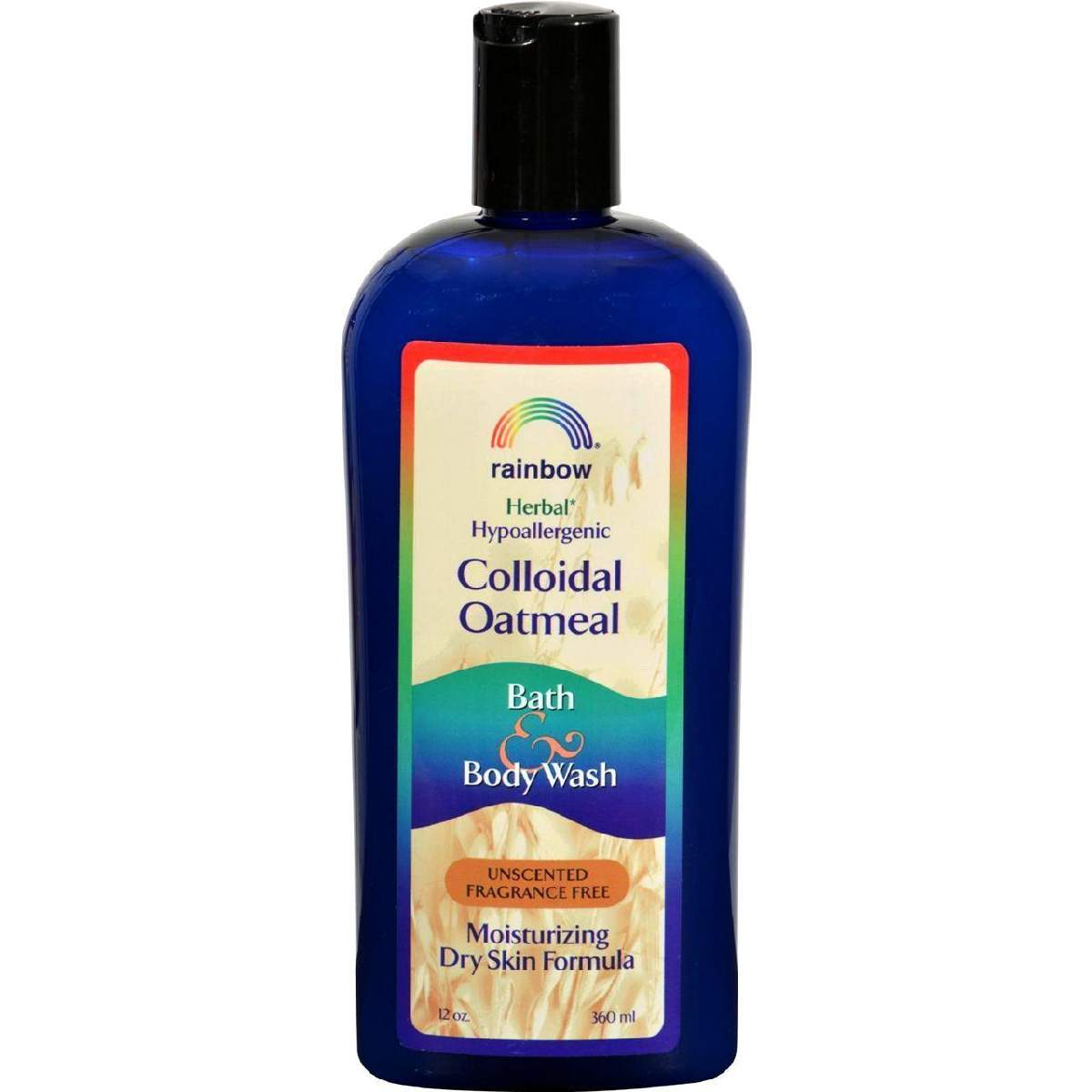 Rainbow Research Colloidal Oatmeal Bath And Body Wash - Fragrance Free - 12 Oz